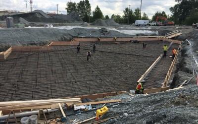 2015-05-01 Maintenance building basement raft slab forming